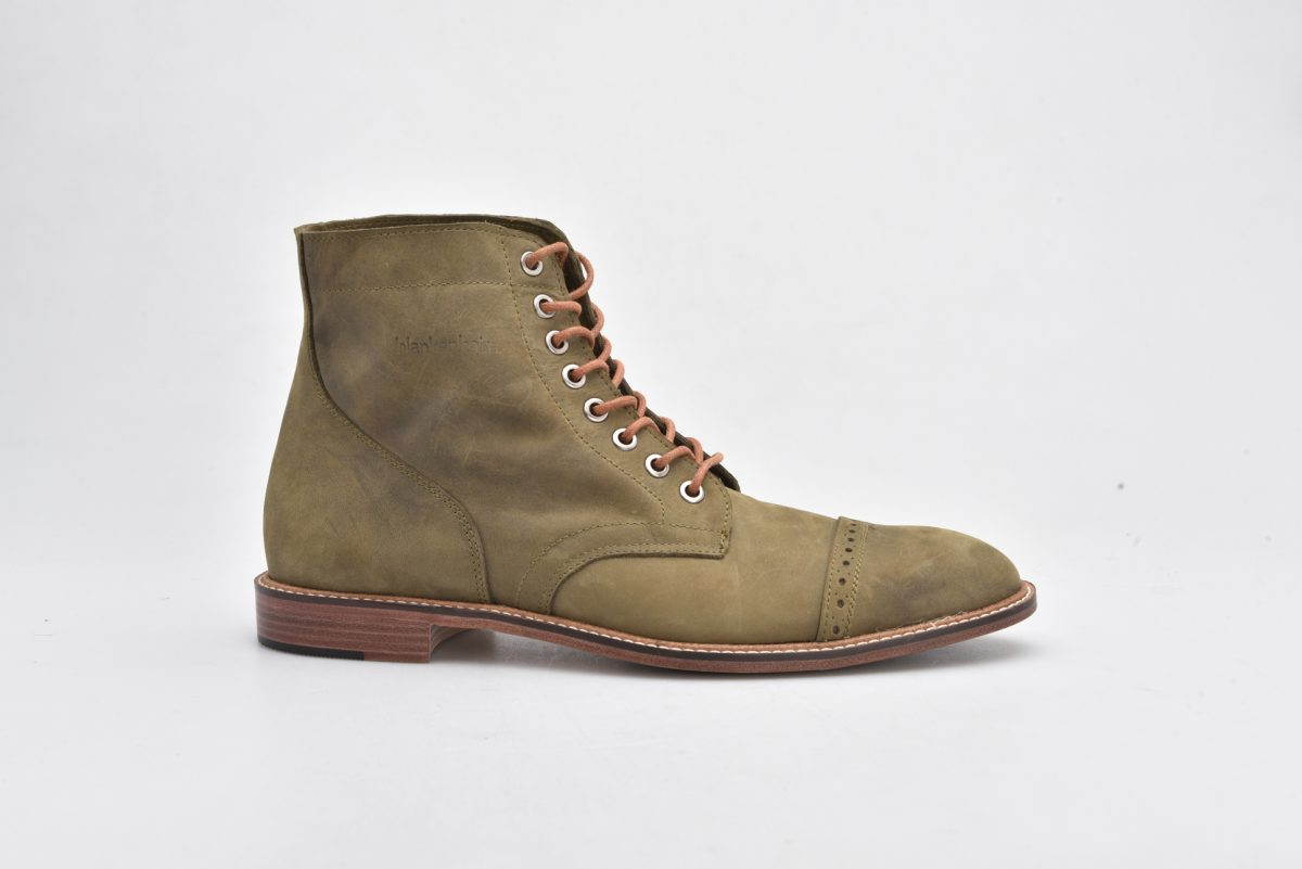Leather Boots Olive