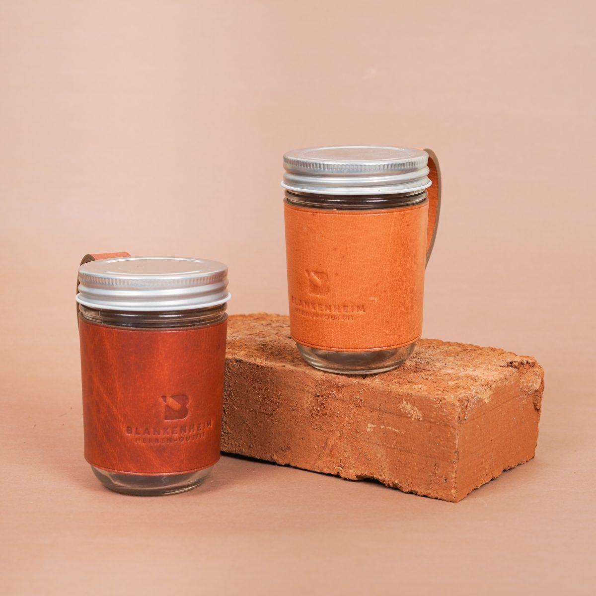 Mason Jar Leather Cover
